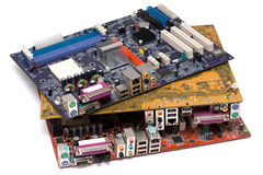 Heap of mainboards Royalty Free Stock Photography