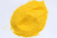 Heap of maize meal Stock Photo