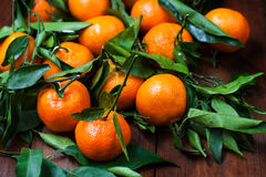 Heap of Mandarins Tangerines Close up Royalty Free Stock Photography