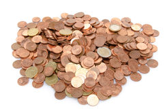 Heap of many coins Stock Images