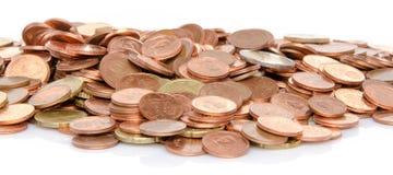 Heap of many coins Royalty Free Stock Photo
