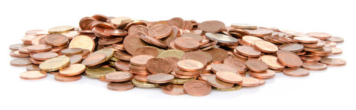 Heap of many coins Royalty Free Stock Photography