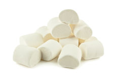 Heap of marshmallow. On white royalty free stock photography