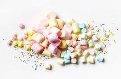 Heap of marshmallows Royalty Free Stock Photos