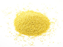 Heap of millet isolated on white background.  royalty free stock images