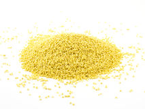 Heap of millet isolated on white background.  stock photography