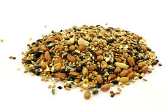 Heap of mixed bird feed Royalty Free Stock Images