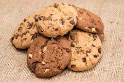 Heap of mixed Cookies Stock Photo