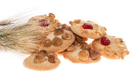 Heap of mixed Cookies with wheat Royalty Free Stock Image