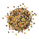 Heap of mixed different types of lentils Stock Photo