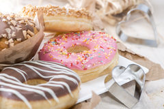 Heap of mixed Muffin and Donuts Royalty Free Stock Photos