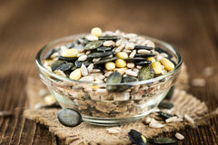 Heap of mixed Seeds (close-up shot) Stock Photography