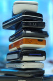 Heap of mobile phones. All kinds of brands Stock Photos