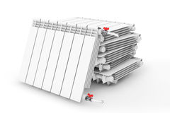 Heap of Modern Heating Radiator Stock Image