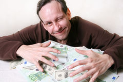 Heap of money stock photography