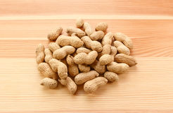 Heap of monkey nuts, peanuts or groundnuts in shells Royalty Free Stock Photography