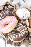 Heap of Muffins and Donuts Stock Image