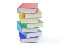 Heap of multicolored books. Isolated on white background vector illustration