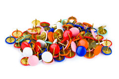 Heap of multicolored pins Royalty Free Stock Photo