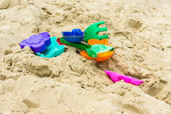 Toys to play with sand Royalty Free Stock Images