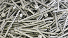 Heap of nails. Heap of sharp metal nails Royalty Free Stock Photography