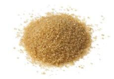 Heap of natural brown sugar Stock Photo