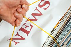 Heap of news Royalty Free Stock Images