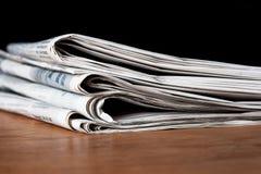 Heap of newspapers Stock Photos