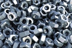 Heap nuts background. Royalty Free Stock Photo