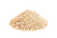 Heap of oat bran isolated on white background. Heap of oat bran isolated white background stock images