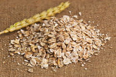Heap of oat flakes Royalty Free Stock Image