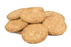 Heap Of Oatmeal Cookies Stock Image