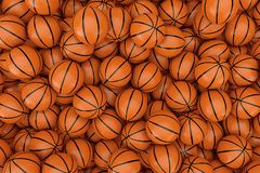 Free Heap Of Orange Basketball Ball Background. 3d Rendering Stock Image - 127186131