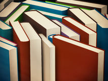 Heap of old books in a hard cover Stock Image