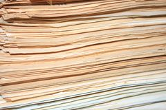 Heap of old documents of role.  royalty free stock images