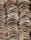 Heap of old greek roof tile Royalty Free Stock Photography