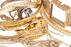 Heap of old jewellery Stock Image
