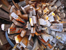 Heap of old lumber Royalty Free Stock Images