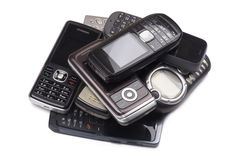 Heap of old mobile phones Stock Photography