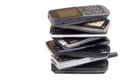 Heap of old mobile phones Stock Image