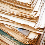 Heap of old papers Stock Image