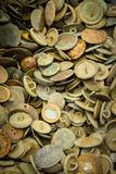 Heap of old rusty buttons for sale at the bazaar Royalty Free Stock Photo