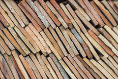 Heap of old terracotta tile roof 3 Royalty Free Stock Photography