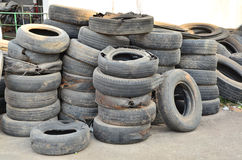 Heap of old tire Royalty Free Stock Images
