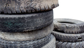 Heap of old tire Stock Image
