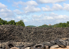Heap of old Tires Stock Photo