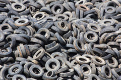 Heap of old Tires Stock Photos