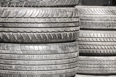 Heap of old Tires Stock Photography