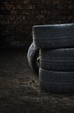 Heap of old tires Royalty Free Stock Photos