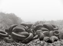 Heap of old tires royalty free stock photography